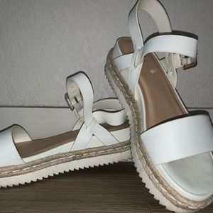 A New Day white flat sandals